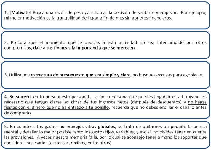 Eliana Bravo Vesga - tips para estructurar presupuesto